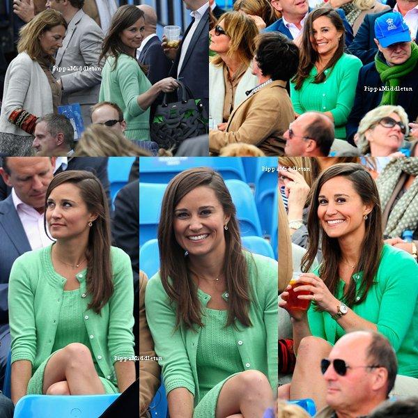 13.06.13: Pippa et Carole sont allées encourager Andy Murray au Queens Club