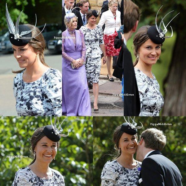 22.06.13: Cet après-midi Pippa a assistait au mariage de Melissa Percy à Alnwick.