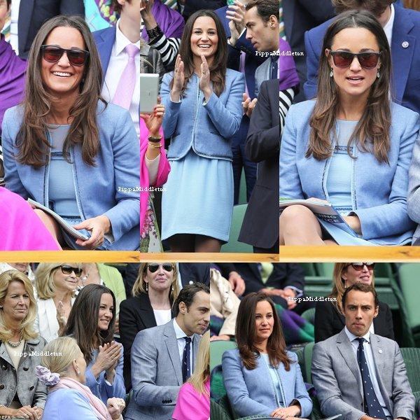 24.06.13: Pippa et James ont assistaient au premier jour de Wimbledon dans le court central.