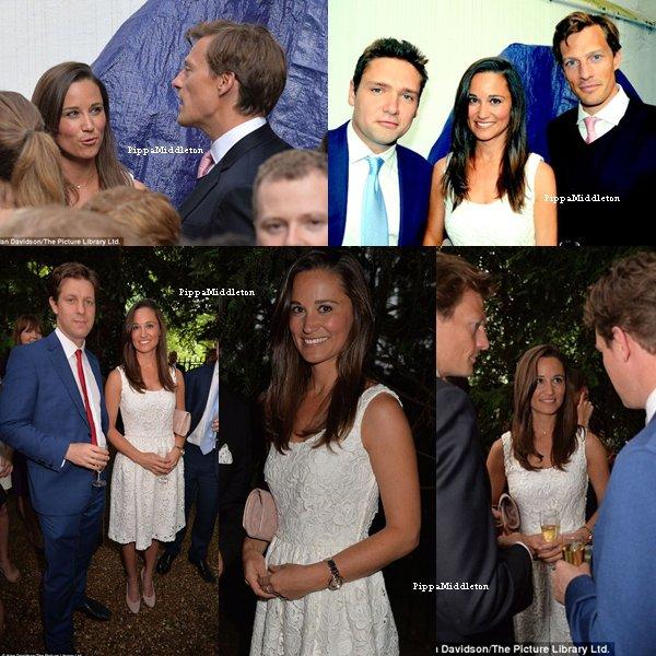 """03.07.13: Pippa et Nico étaient  une soirée organisée par le magazine """"The Spectator"""""""