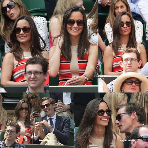 05.07.13: Pippa et Nico ont assistés à la demi-finale homme de Wimbledon dans la royal box.