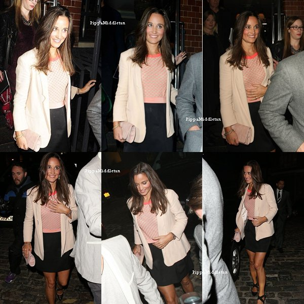 "16.09.13: Pippa était à la ""Instragram Party"" au Fifteen Restaurant à Londres"