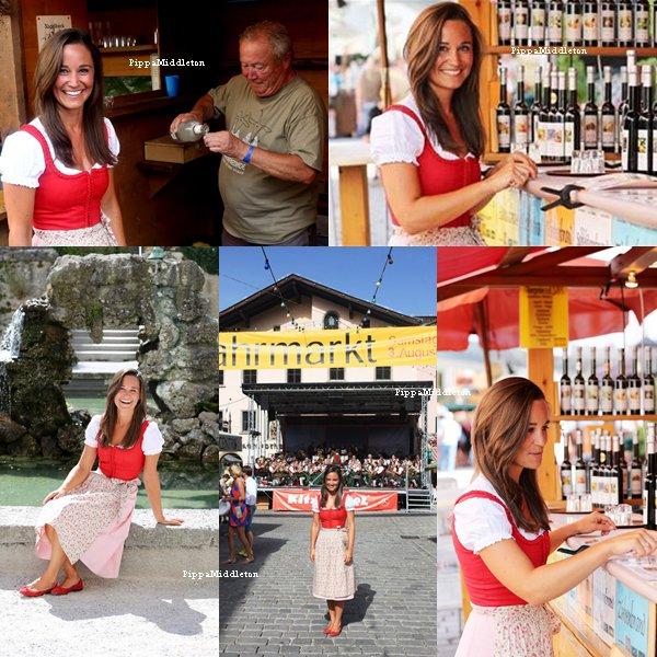 """Octobre 2013: Pippa s'est rendu au Jahrmarkt festival Autriche pour un autre article du """"The Telegraph"""""""
