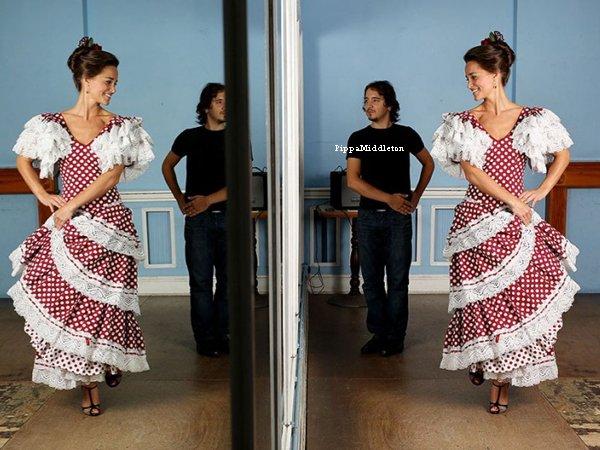 """Photoshoot: Pippa a réalisé une séance photo pour """"The Telegraph"""" lorsqu'elle prennait des cours de flamenco."""
