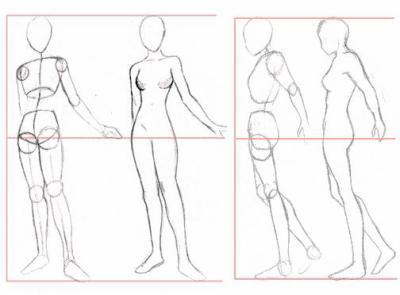 dessin manga corps