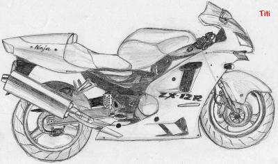 Moto mes dessins et ce que j 39 aime - Dessin de moto facile a faire ...