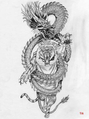 Dragon Et Tigre Mes Dessins Et Ce Que J Aime