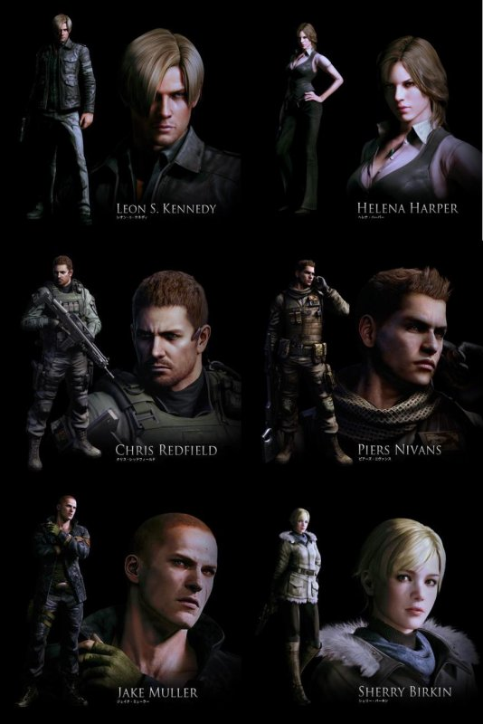 Personnages re6 :