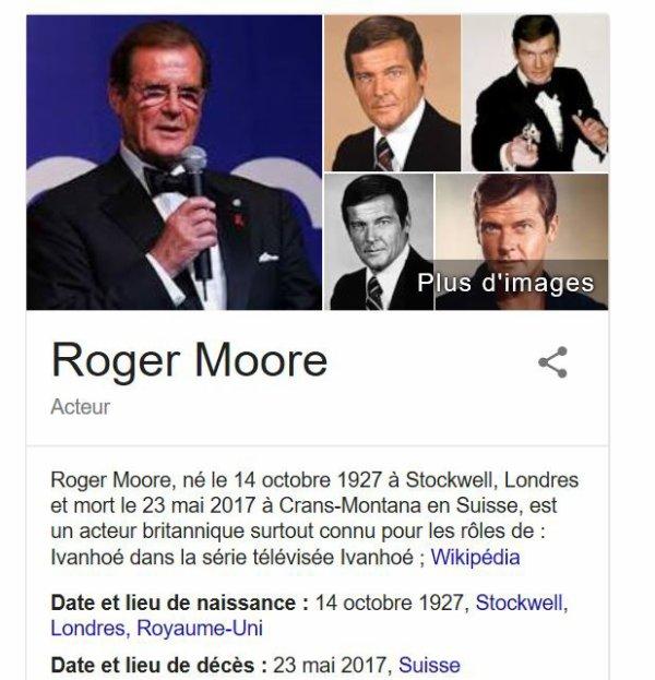 James Bond 007 est Mort à 89 ans .