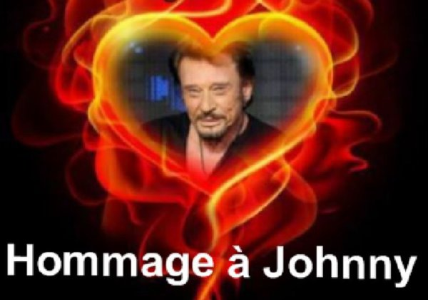Hommage à Johnny Hallyday.