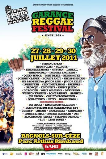 Garance Reggae Festival 2011 à Bagnols sur Cèze.