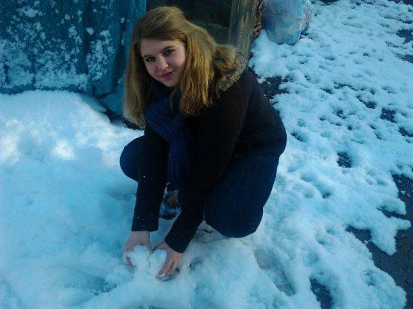la neige et nous ...