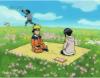 Akamaru, Kiba, Naruto, Hinata