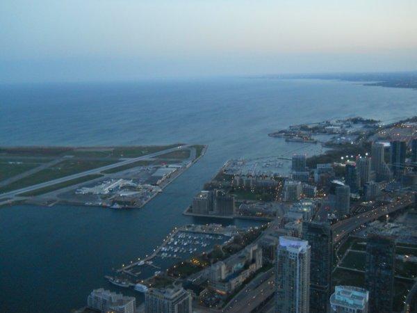 la vu de la CN tower