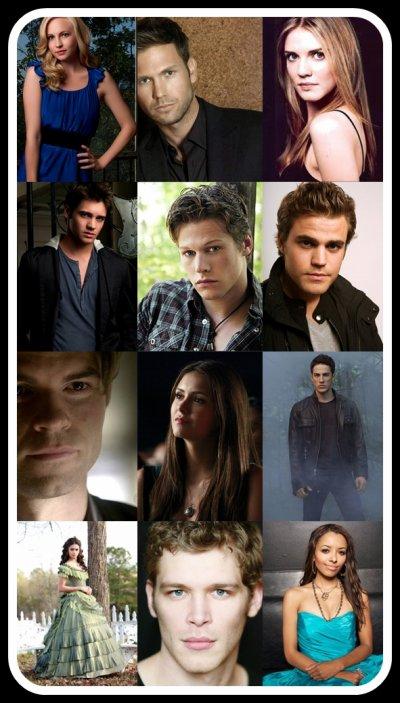 Les principaux personnages de Vampire Diaries