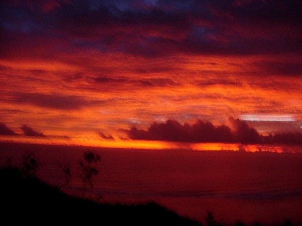 Couché de soleil de mon île Tahiti !