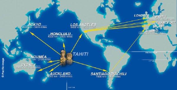 La géographie de Tahiti.