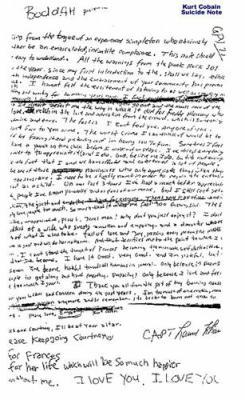 kurt cobain lettre d adieu Blog de bigpadwolf   Page 15   Album Photo des catastrophes et  kurt cobain lettre d adieu