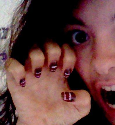 """Nail art Domo *-* "" (Ne faites pas attention à ma tête XD)"