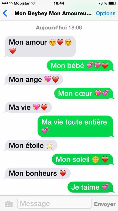 Les sms avec mon bébé le plus parfait ?❤️