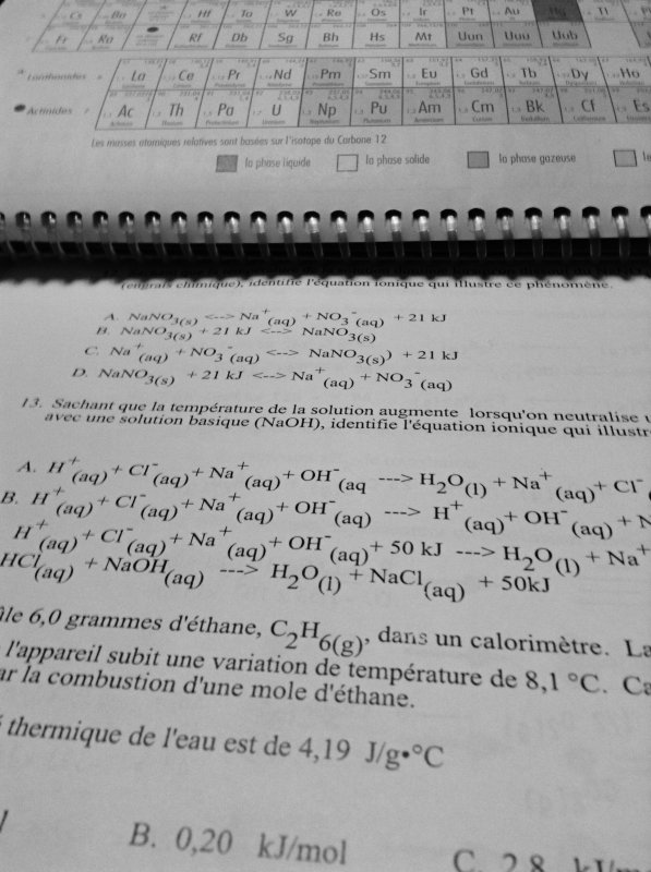 Devoirs :(