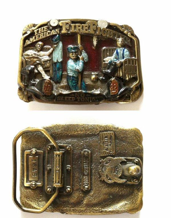 """boucle de ceinture """" the american firefighter"""""""