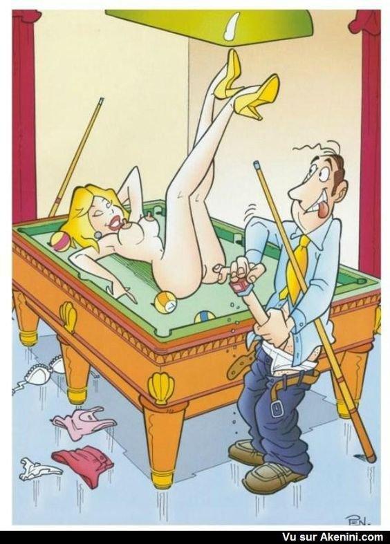 je veux bien jouer moi aussi au billiard ......