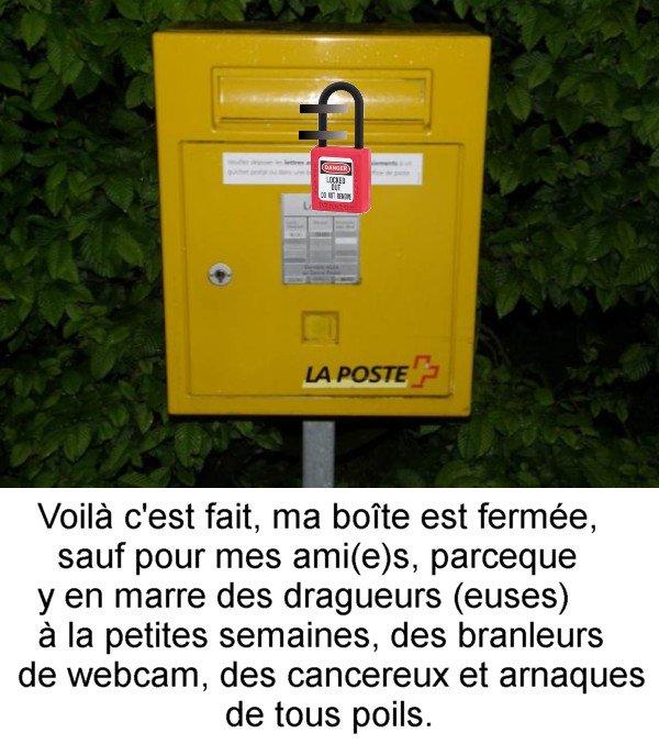 Boîte à lettres.