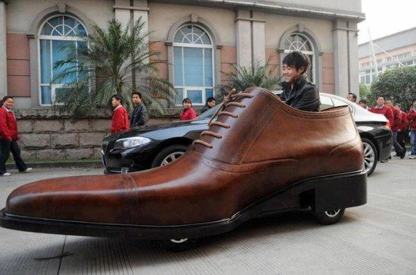 la voiture chaussure..lol