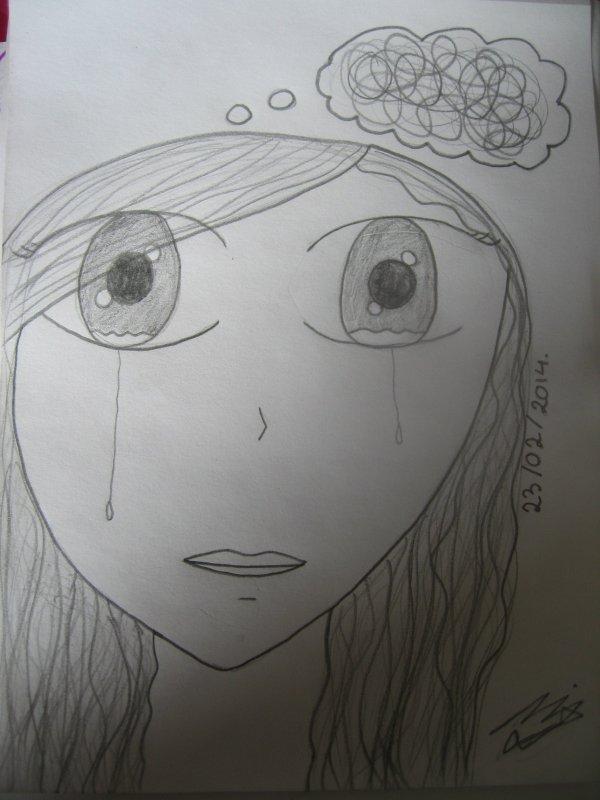 Articles de roxy draws tagg s fille manga blog de tutoriels de dessin de dessin en g n ral - Dessin triste ...