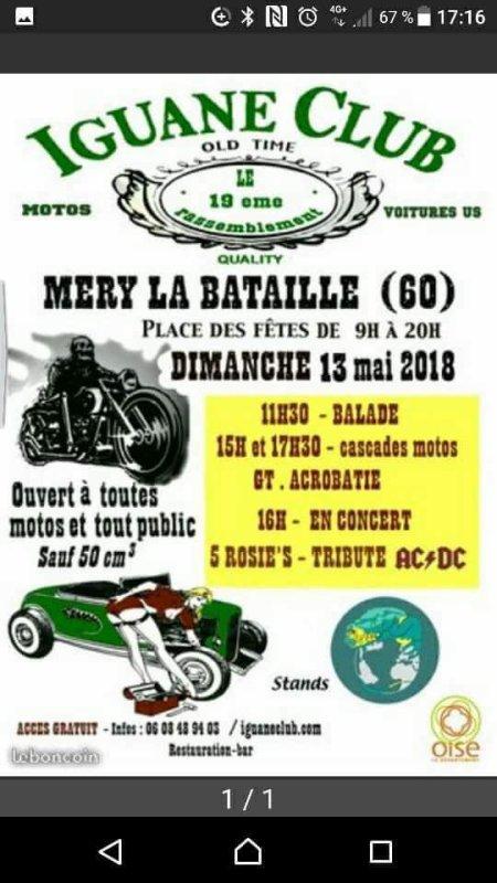Superbe rassemblement de moto dimanche 13 mai