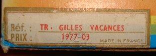 les tenues de Gilles