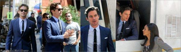 De nouvelles photos de Matt bomer sur le tournage de la saison 4 de White Collar le 4 et 27 avril 2012