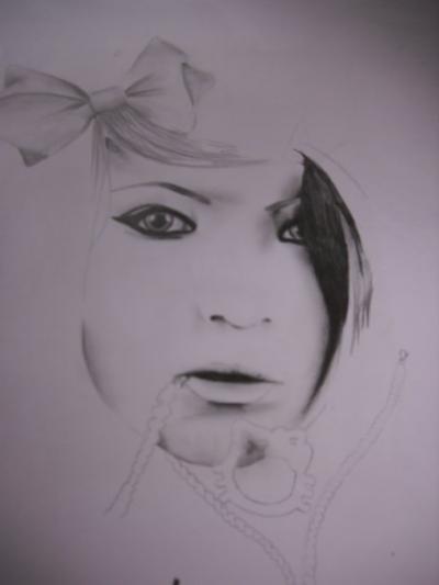 Etapes de mon premier dessin de l'année dernière (Octobre 2009)