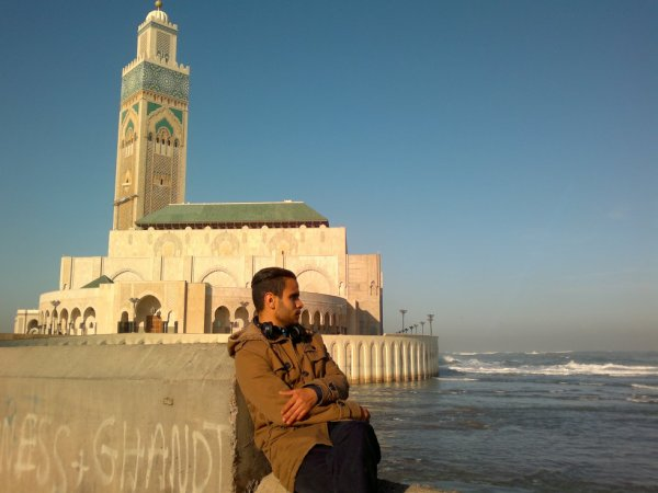 in mosque hassan II In casablanca
