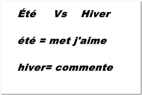 été vs Hiver