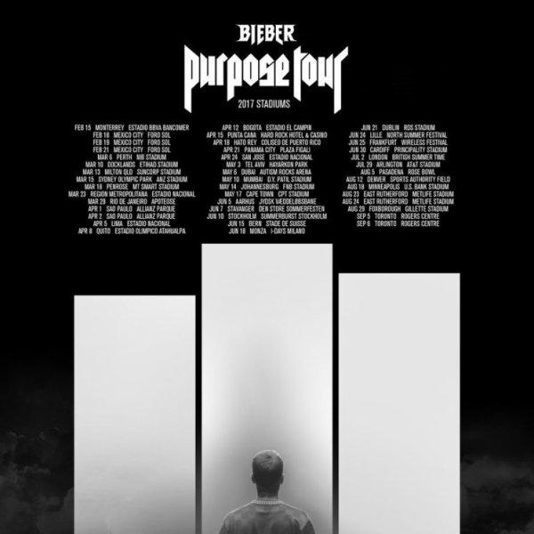 Justin Bieber : Purpose Tour Stadium 2017 !!