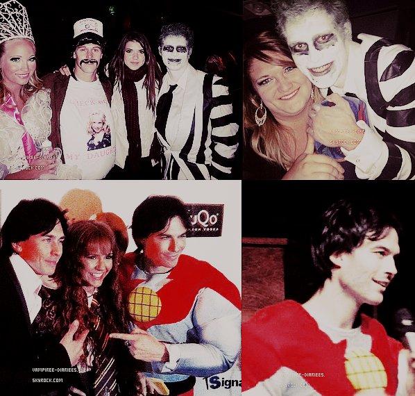 29/10/11: Pour la fête d'Halloween.. le cast de TVD s'est mis au déguisement! Ian avait l'air très souriant malgré sa petite chute, et son déguisement de super héro qui lui allait à merveille ! .. Nina en Hermione, original! J'aime ♥ .