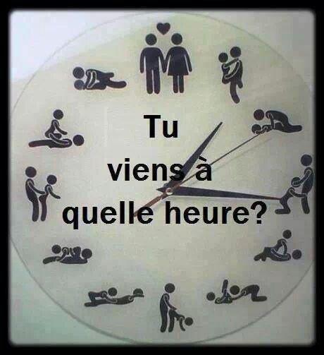 A quel heure ta envi de me voir ?