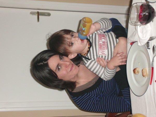 Moi et mon fils au réveillon de noel