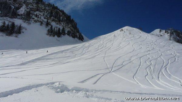 Des empreintes dans la neige