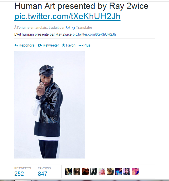 Ray Ray tweet une photo de lui sur Twitter le 7 décembre 2013