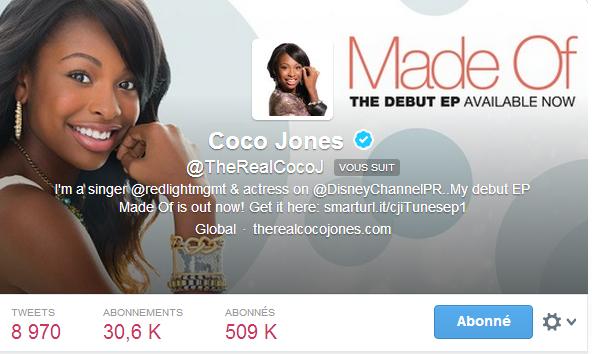 Coco Jones m'a follow sur Twitter