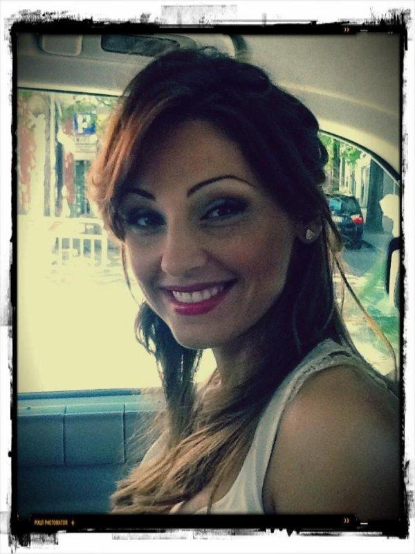 Anna la veille du Miss Italia