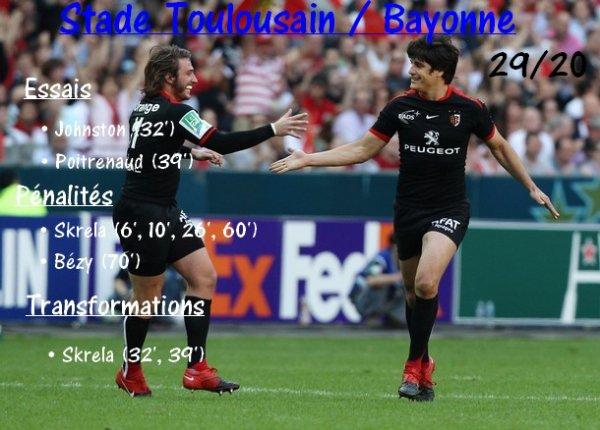 7ème journée  : Stade Toulousain / Bayonne