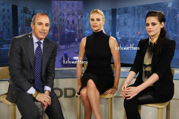 Kristen Stewart et Charlize Theron au today show