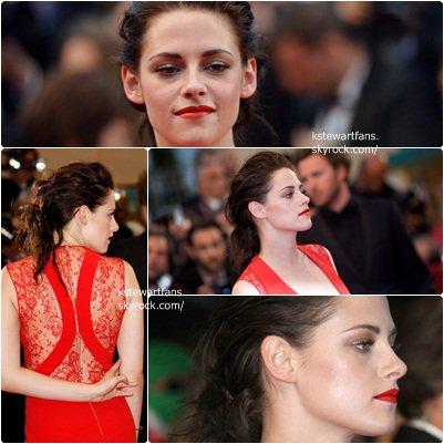 Nouveaux posters de breaking Dawn + Kristen sur la Tapie Rouge à Cannes