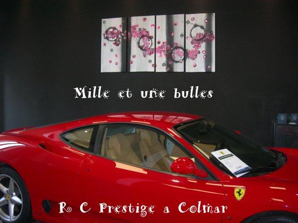 Voila les photos de l'exposition de mes toiles chez  RC Prestige a Colmar