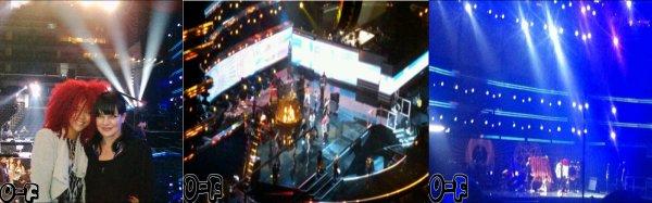 Répétition de Rihanna pour les Grammy Awards