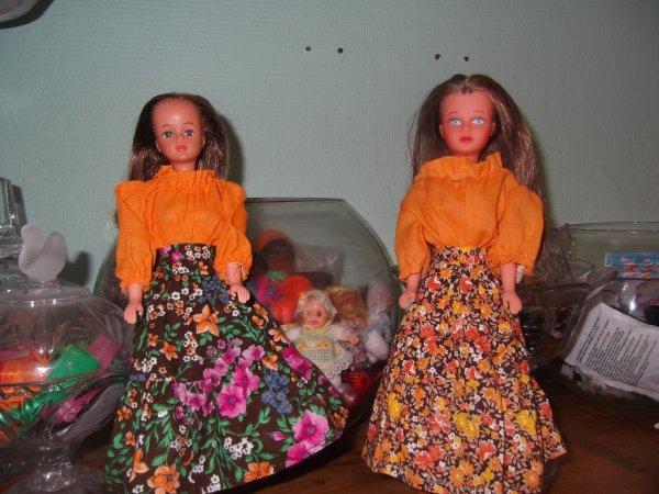 Tressy et Bouclette en tenue de 1978
